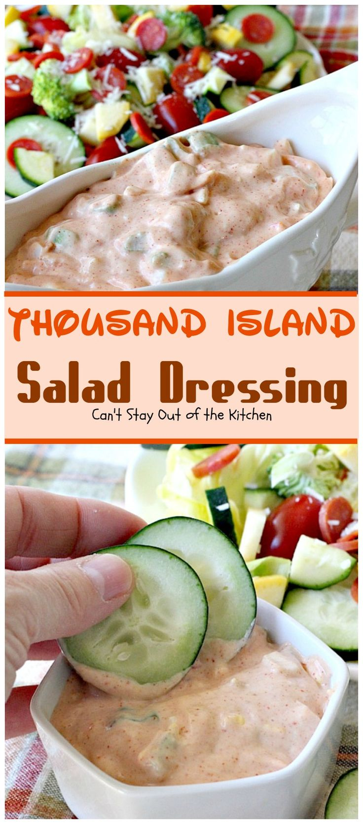 Thousand Island Salad Dressing ~ Fantastic homemade salad dressing that's perfect for any salad... It's great to use as a dip as well.