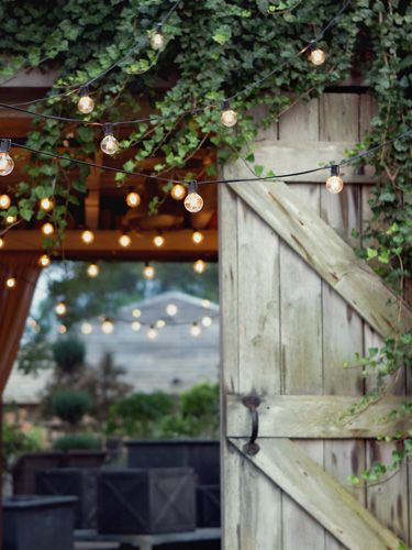 We're coveting these string lights from Terrain #gardens #outdoors