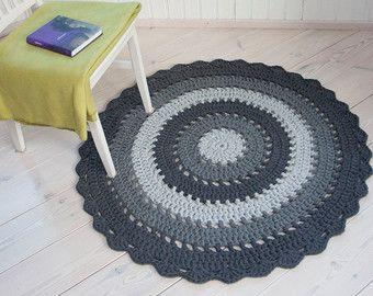 Tapete blanco ronda alfombra 37'' / 93 cm por ForHomeAndSoul