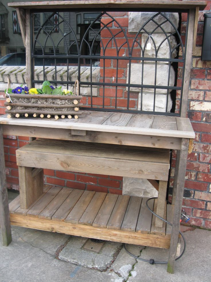 79 best potting benches images on pinterest potting benches