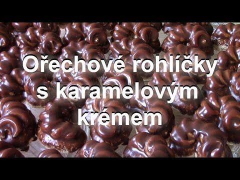 Ořechové rohlíčky s karamelovým krémem / Helenčino pečení - YouTube