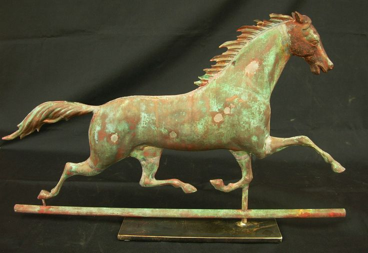 Antique Horse Weathervanes | ethan allen running horse weathervane a late 19th century weathervane ...