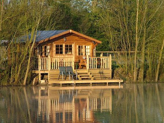 no stress allowed in this tiny cabin on the lake