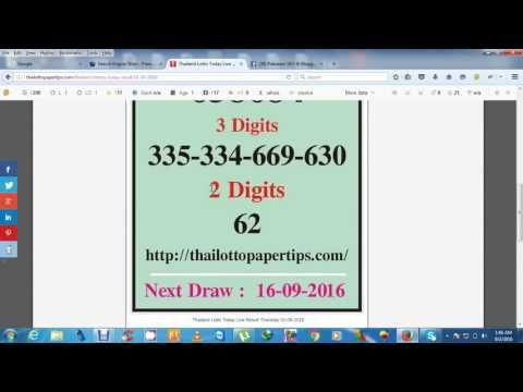 Thailand Lottery Today Result 01 09 2016 - http://LIFEWAYSVILLAGE.COM/lottery-lotto/thailand-lottery-today-result-01-09-2016/