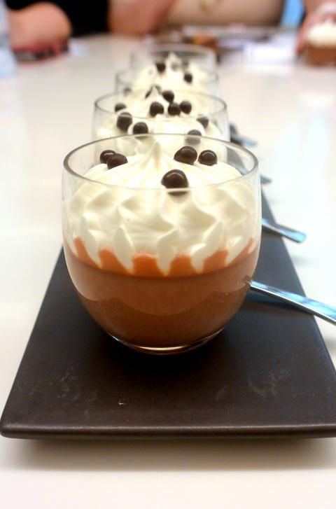 Petits pot de crème chocolat ou caramel Michalak. Vidéo ici http://youtu.be/3dRMoTyTN74