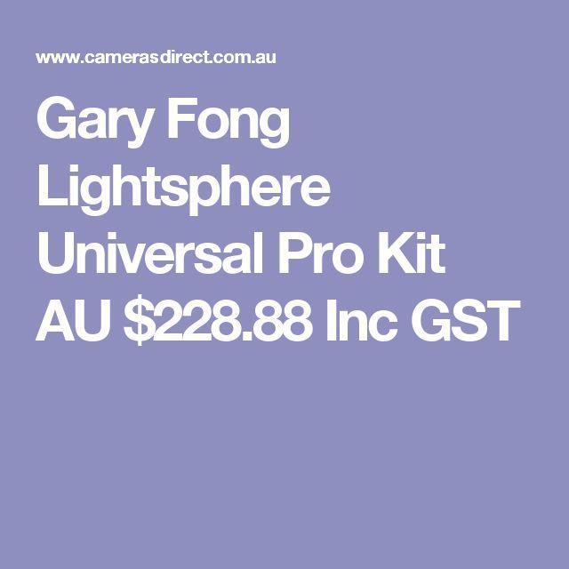 Gary Fong Lightsphere Universal Pro Kit  AU $228.88 Inc GST