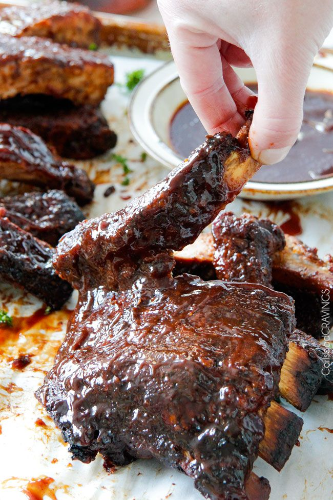 15 minute prep Fall-Off-the-Bone Slow Cooker Barbecue Ribs  by carlsbadcraings: They are slathered in the most incredible rub and barbecue sauce for amazing restaurant flavor.