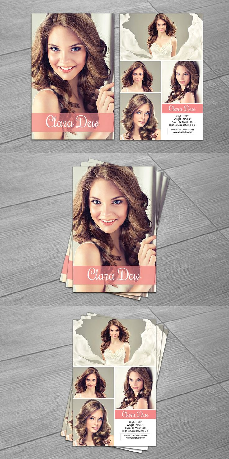 Best 25 model comp card ideas only on pinterest model for Free model comp card template psd