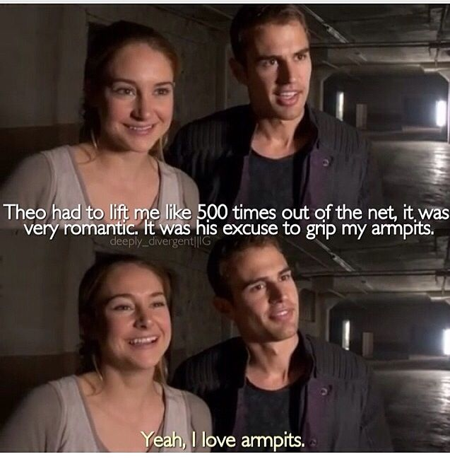 Divergent. Hahaha theo james.