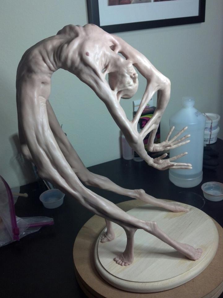 # woman sculpture dissolution body material pain