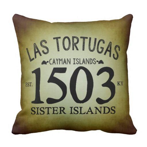 Rustic Caribbean Pillow  #Zazzle #Typography #LasTortugas #CaymanIslands #Rustic