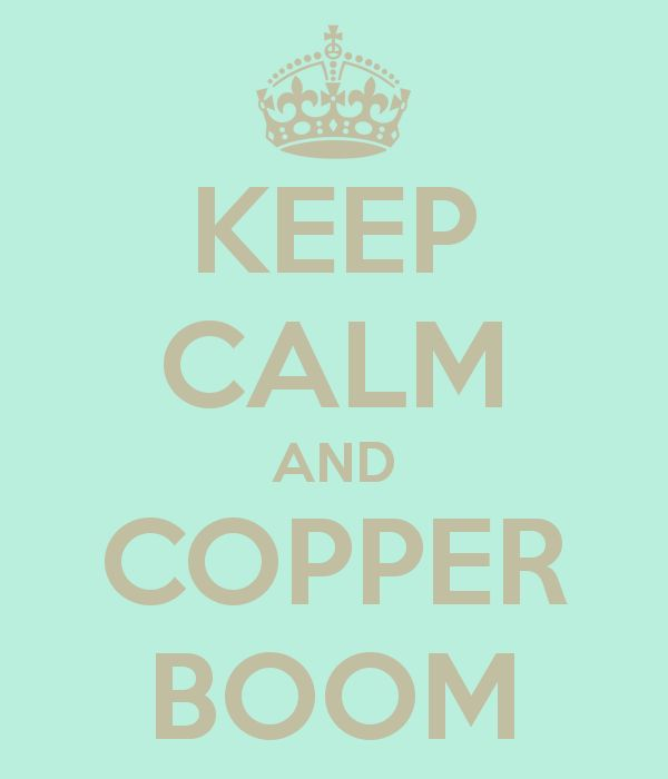 Copper Boom. A true Gilmore Girl fans knows exactly what this means (It doesn't mean anything, it's just Lorelai completely mishearing Rory and then yelling it out for fun)