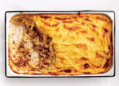 Greek Lasagne (Pastitsio) - This creamy casserole of pasta and meat is enjoyed throughout Greece.