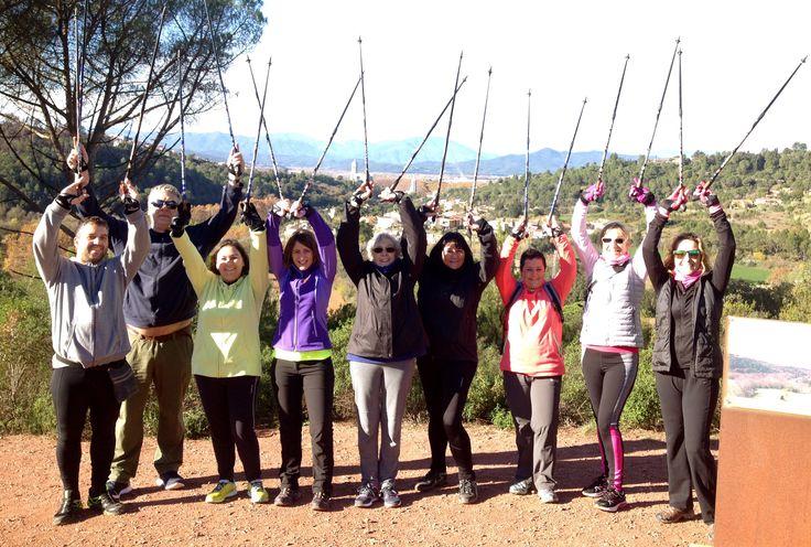 Cap de setmana de solet i molta marxa per la Vall de Sant Daniel, Girona. Moltes felicitats als nous batejats!!! www.nordicwalking-girona.blogspot.com
