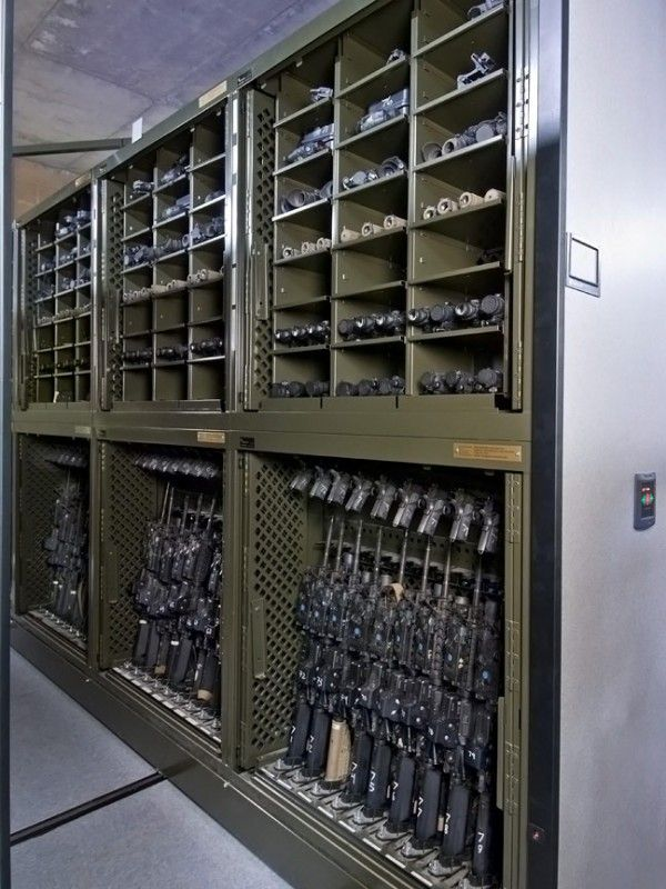 Military Storage Solutions: Pistol Racks, Weapons Rack, Mobile Shelving