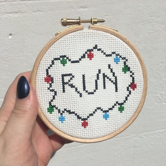 Stranger Things Run Cross Stitch by DinglehopperCrafts on Etsy