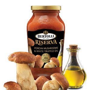 Imported Porcini Mushroom paired with White Truffle Oil - Bertolli