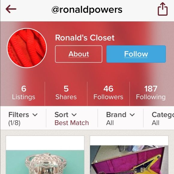 Please help get this guy off of posh!@ronaldpowers Please help remove this guy from poshmark. He is claiming to have an over 5 carat Tiffany's diamond ring for less than 3,000. A few people commented including me and he deleted and relisted for 6,000. He is also selling unsupported items such as hunting supplies including bullets APPALLING!! bow tips for bow hunting. This is a site for women not for men to try to sell fake jewelry, hunting supplies and drums and stuff. I reported him. I am…