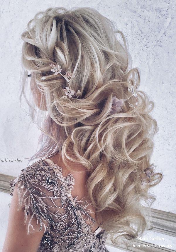 Bridal Hairstyles : Nadi Gerber Long Wedding Hairstyles and Updos for Bride #weddings #hairstyles #w…