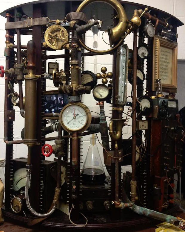 """Antiquated, Complicated Steampunk Coffee Machine Voted """"Most Innovative"""" of London Coffee Festival"""