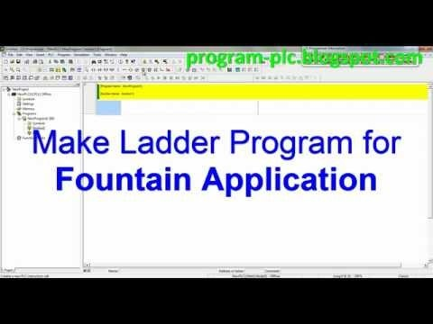 Video about Make PLC Ladder Program for Fountain Application