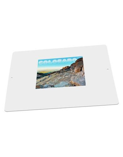 """CO Rockies View with Text Large Aluminum Sign 12 x 18"""" - Landscape"""