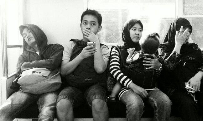 Commuter life in Jakarta