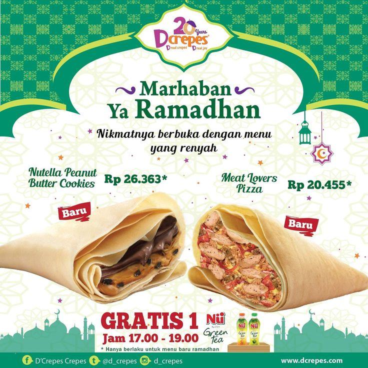 Dcrepes Promo Spesial Ramadhan http://www.perutgendut.com/read/dcrepes-promo-spesial-ramadhan/6046?utm_content=buffer799bb&utm_medium=social&utm_source=pinterest.com&utm_campaign=buffer #PerutGendut #Food #Kuliner #News #Indonesia #WisataKuliner
