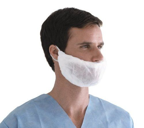 Medline Industries NONSH400 Beard Covers, Spunbond, Latex Free, White (Pack of 1000). Medline's beard covers provide complete coverage for worry-free performance during surgery. One size fits most. Beard covers are made of spunbond polypropylene. Item dimensions: weight: 194, width: 850, height: 980 hundredths-inches. Beard covers are made of spun bond polypropylene. 1000 per Case. 100 per Box.