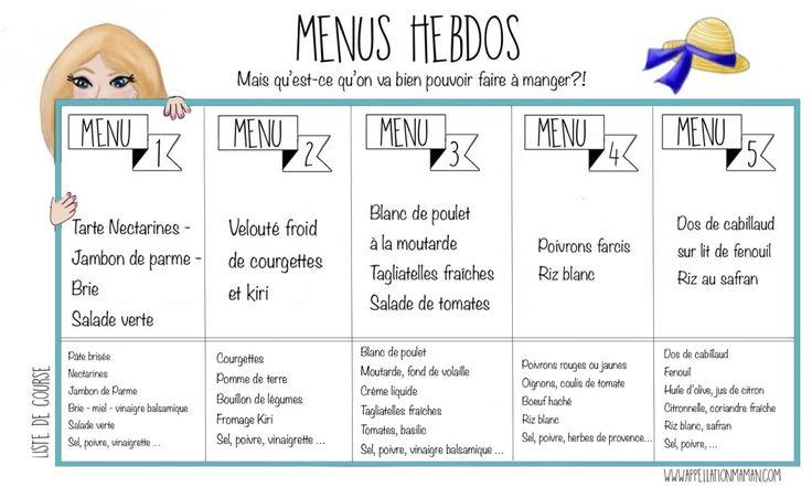 MENUS HEBDOS