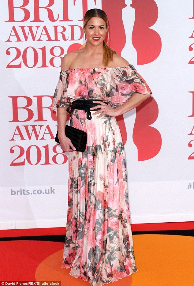 The Emmerdale actress, 33, was flying solo as she arrived at the 2018 BRIT Awards at London's O2 Arena on Wednesday night.