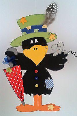 Fensterbild Rabe als Vogelscheuche -Herbst- Dekoration - Tonkarton!