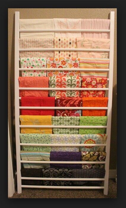 Fabric rack from jenny lind crib sides