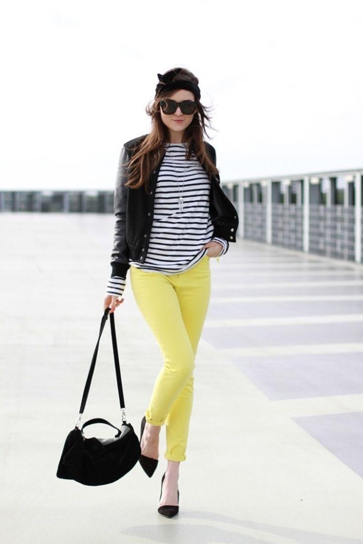 pantalon amarillo