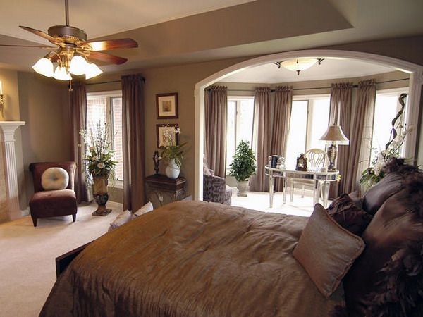 Designing Master Bedroom Ideas   Home Interior Design.  Love the wall color, study off the bedroom and that desk!