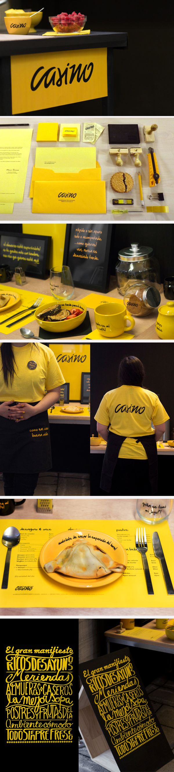 Casino food place © Victoria Gallardo ı{psychology and dieting, yellow: warm colours like red and yellow stimulate the appetite - and family quarrels}