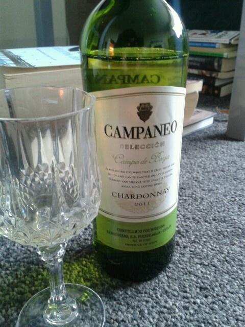 campaneo. chardonnay,2011. Spain.