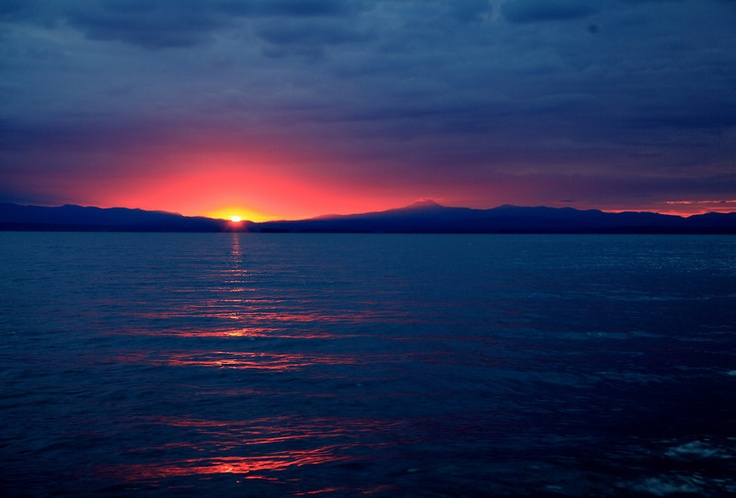 Sunrise over Vermont and Lake Champlain