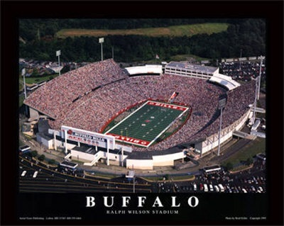 I have this hanging in my office - Buffalo Bills Stadium Picture