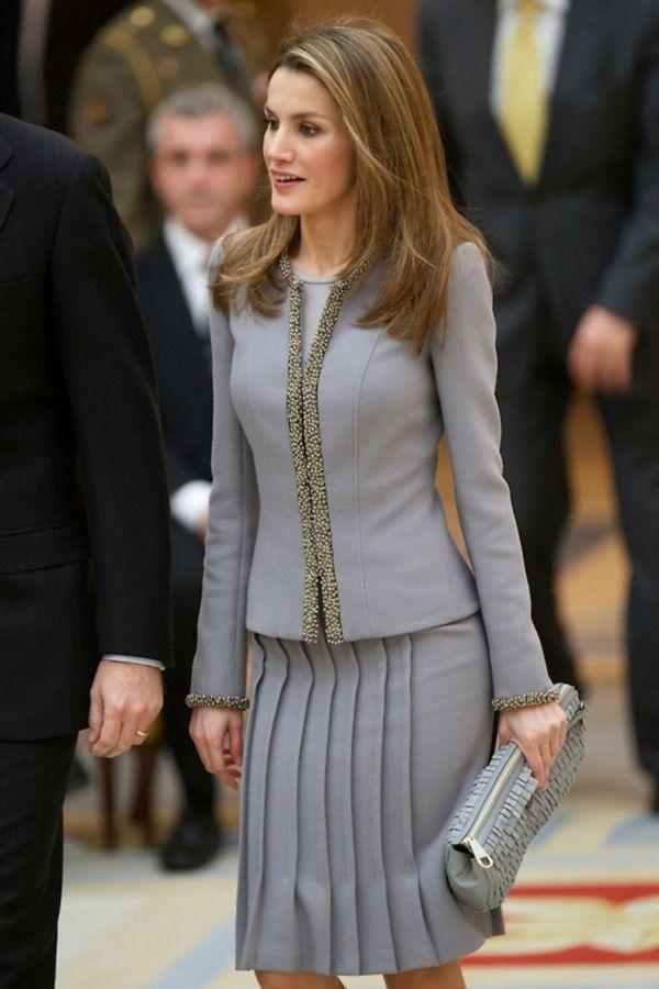 Crown Princess Letizia of Spain 2/19/2013