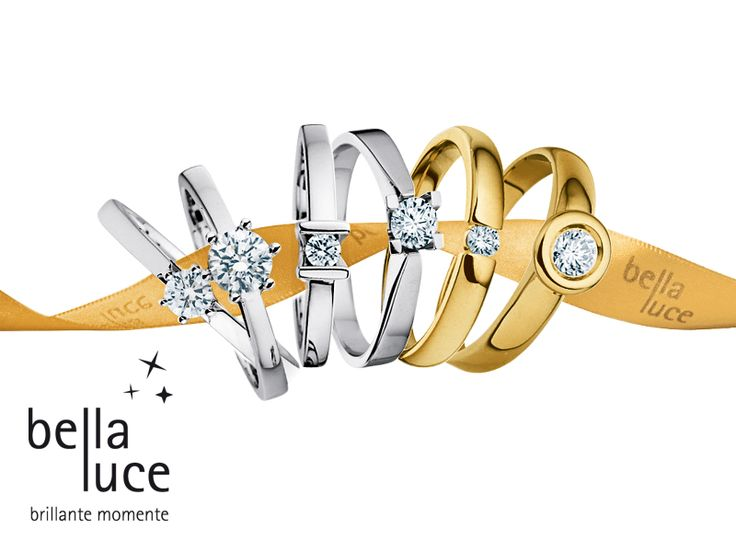 Bellaluce Engagement Rings  When tough guys' knees turn to jelly.  When a ring becomes a symbol. When a decision follows a question. When the answer can suddenly change everything.  Then you should be dazzling. Let us assist you.  Rings in Gold with one brilliant cut diamond, Starting from 0,05 ct. A Solitaire says more than a thousand words.  www.bellaluce.de #bellaluce #ring #engagement