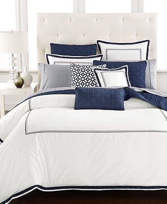 Hotel Collection Embroidered Frame King Duvet Cover, Only at Macy's - Bedding Collections - Bed & Bath - Macy's