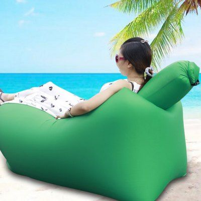 Just US$24.78, buy Ultralight Inflatable Lazy Sofa with Pillow Beach Chair for Leisure Activities online shopping at GearBest.com Mobile.