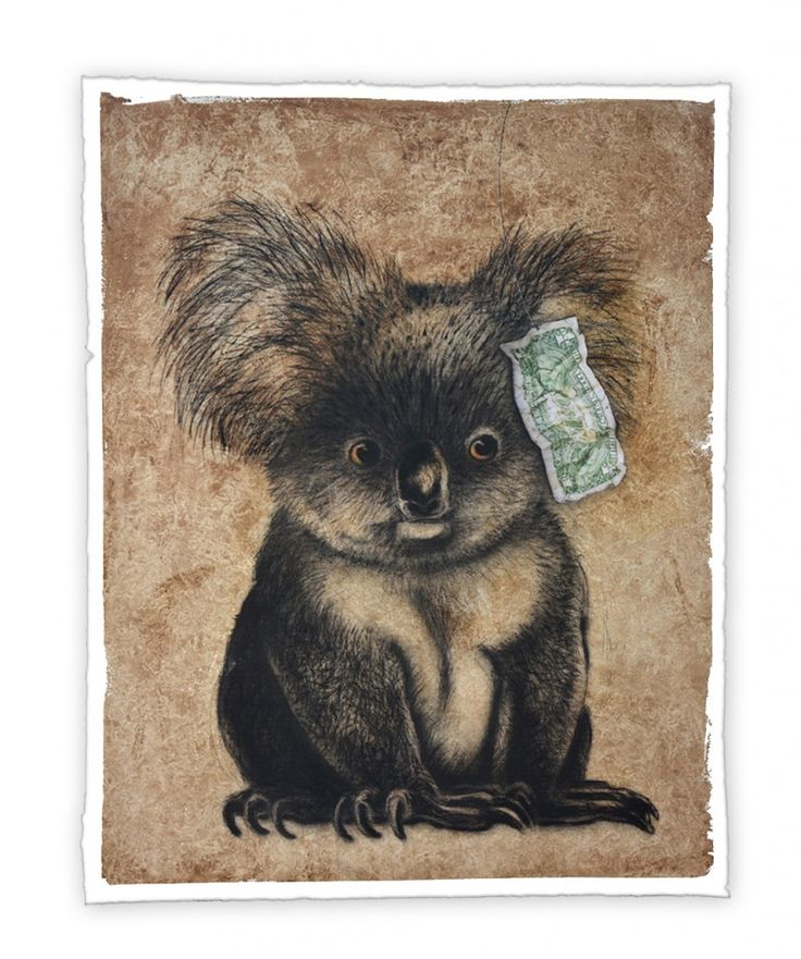 """""""Eat Your Greens"""" from Simon McLean's exhibition at Hilltop on Tamborine main gallery open from 5th to 29th November 2015."""