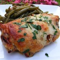 "Aussie Chicken | ""Loved the combination of flavors and the sauce. My husband really doesn't like chicken breasts and said he would eat this anytime because it was delicious."""