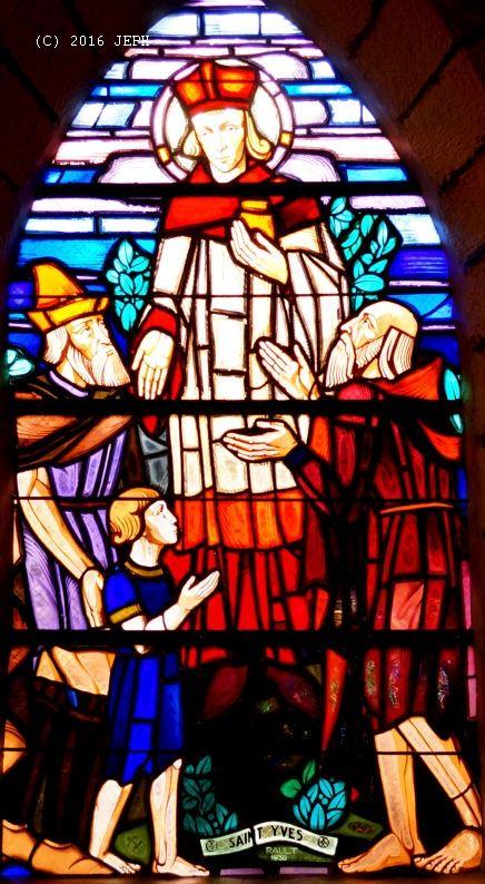 St Yves, église de Glomel (22), Vitrail de Rault, 1938