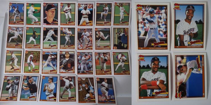 1991 Topps San Diego Padres Team Set of 27 Baseball Cards With Traded #topps #SanDiegoPadres