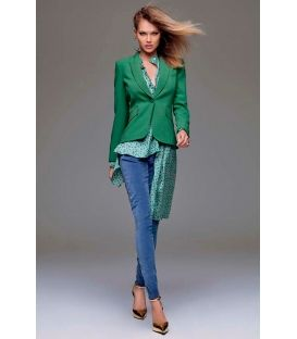DENNY ROSE Pantalone in velluto VERDE 51DR21027 FALL/WINTER 14-15 NEW