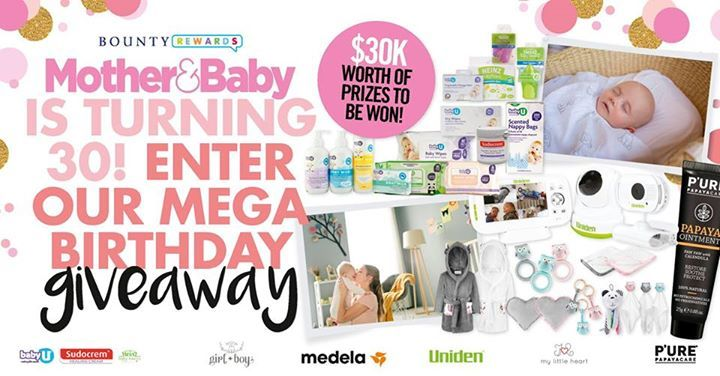 With only a few days left to enter our 30th birthday extravaganza, you need to get in quick to win one of 100 PURE Papaya Care tubes of Papaya ointment, Girl + Boy Inbetweenie Muslin Sleep Sacks, state of the art monitors from our friends at Uniden, Medela Australia Gift Vouchers, 10 Bumper Gift Packs filled with Baby U, Sudocrem Australia and Heinz For Baby Australia delights and the sweetest hampers you've seen from My Little Heart and Whisbear Australia and New Zealand. Enter/join…