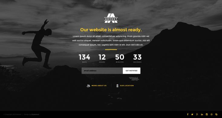 Advent is a clean, well-crafted free HTML5 coming soon website template. It is the perfect template to keep your visitors informed about your website launch. Advent template features a countdown timer, a google map section, an about section and a mailchimp ready ajax subscription form. This template is fully responsive, Retina ready and uses custom framework.
